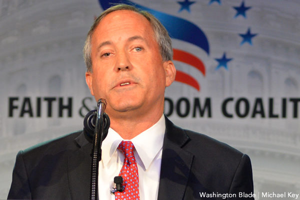 Ken Paxton, gay news, Washington Blade