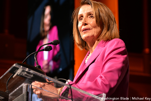 Nancy Pelosi, gay news, Washington Blade