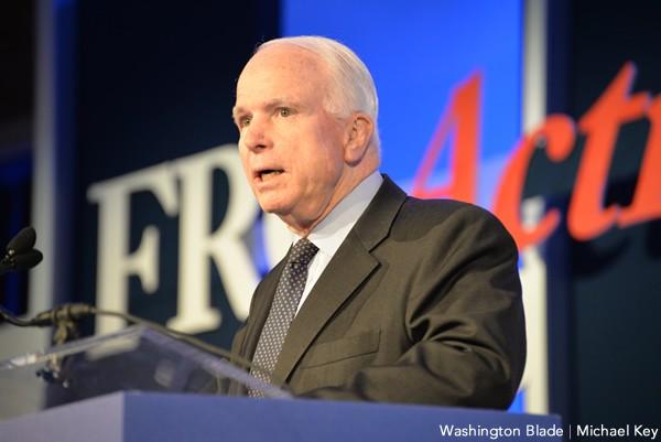 John McCain, Values Voter Summit, gay news, Washington Blade, United States Senate, Republican Party, Arizona