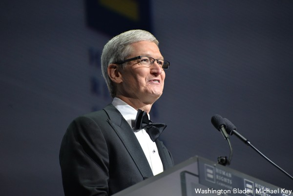 Tim Cook, gay news, Washington Blade