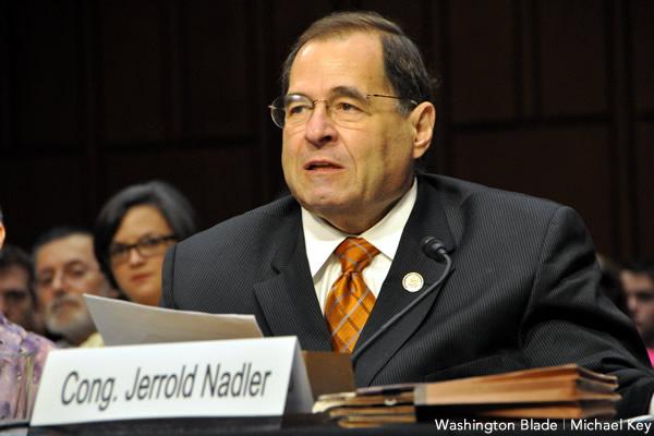 cannabis de-scheduling, Jerrold Nadler, New York, United States House of Representatives, U.S. Congress, Democratic Party, gay news, Washington Blade